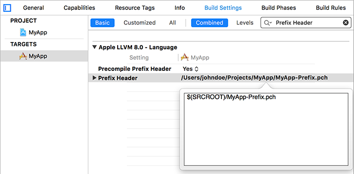 xcode_settings_pch